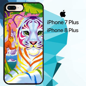 Neon Tiger And Monkey custodia cover iPhone 7 Plus , iPhone 8 Plus
