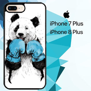 The Winner Panda Animal Z0945 custodia cover iPhone 7 Plus , iPhone 8 Plus