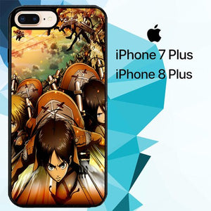 Attack on Titan shingeki no kyojin Z1502 custodia cover iPhone 7 Plus , iPhone 8 Plus