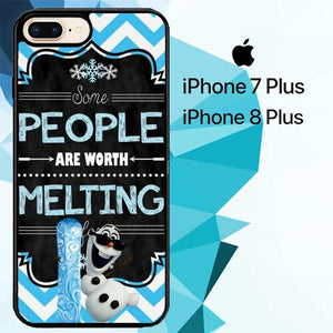 Olaf quotes Z2882 custodia cover iPhone 7 Plus , iPhone 8 Plus