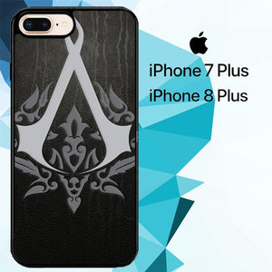 assassins creed logo Z4435 custodia cover iPhone 7 Plus , iPhone 8 Plus