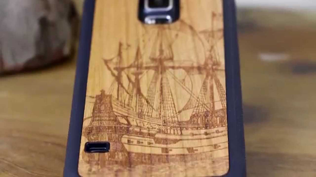 cover samsung s5 wood