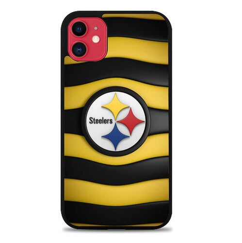 Custodia Cover iphone 11 pro max pittsburgh steelers logo X9282 Case
