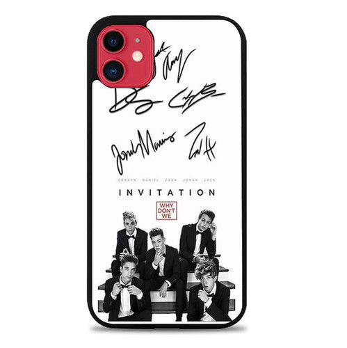 Custodia Cover iphone 11 pro max why dont we signatures X9281 Case