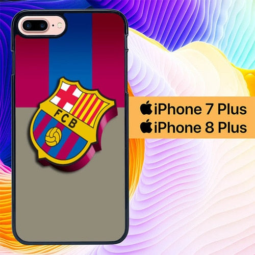Barcelona Logo L0117 custodia cover iPhone 7 Plus , iPhone 8 Plus