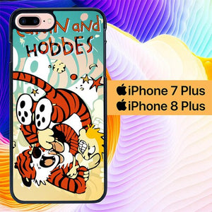 calvin and hobbes L0412a custodia cover iPhone 7 Plus , iPhone 8 Plus