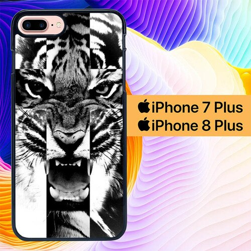 Tiger Roar Wallpaper L0444 custodia cover iPhone 7 Plus , iPhone 8 Plus
