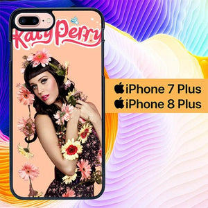katy perry flower L0529a custodia cover iPhone 7 Plus , iPhone 8 Plus