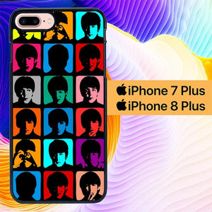 The Beatles Super Pop L0578 custodia cover iPhone 7 Plus , iPhone 8 Plus