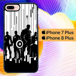 The Avengers BNW Simple L0629 custodia cover iPhone 7 Plus , iPhone 8 Plus