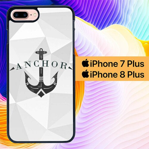 anchor geometric L0970 custodia cover iPhone 7 Plus , iPhone 8 Plus