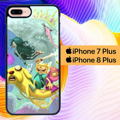 Adventure Time Illustration  L1143 custodia cover iPhone 7 Plus , iPhone 8 Plus