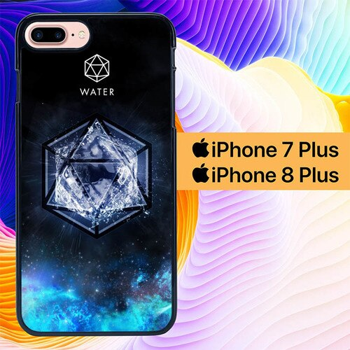 Sacred Geometry Water Symbol L1286 custodia cover iPhone 7 Plus , iPhone 8 Plus