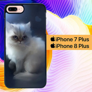 Apofiss Cat L1376 custodia cover iPhone 7 Plus , iPhone 8 Plus