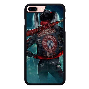 Harley Quinn With FC Bayern Munchen Jacket P1886 custodia cover iPhone 7 Plus , iPhone 8 Plus
