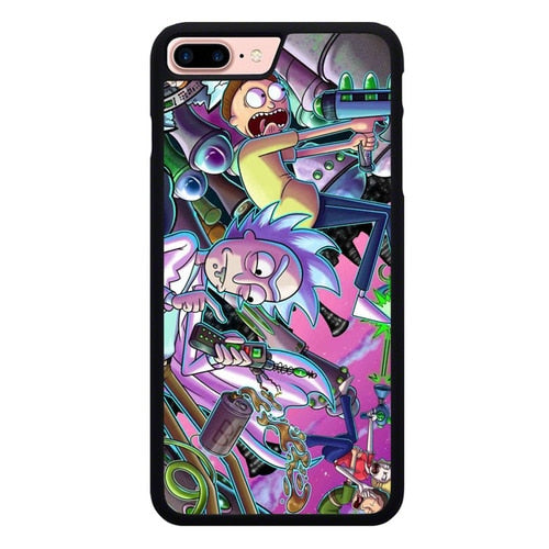 Rick And Morty War With Enemy P1949 custodia cover iPhone 7 Plus , iPhone 8 Plus