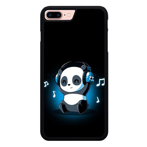 Panda Cute Music P2013 custodia cover iPhone 7 Plus , iPhone 8 Plus