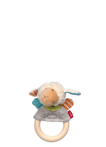 Boller Sheep Finger Puppet With Wooden Grasp Ring