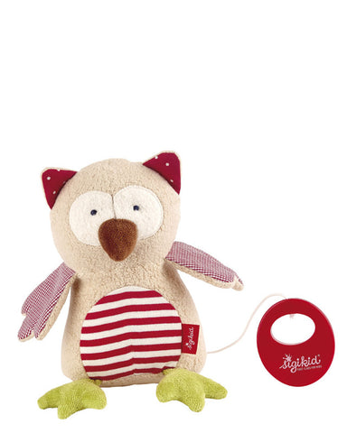 Organic Owl Musical Toy