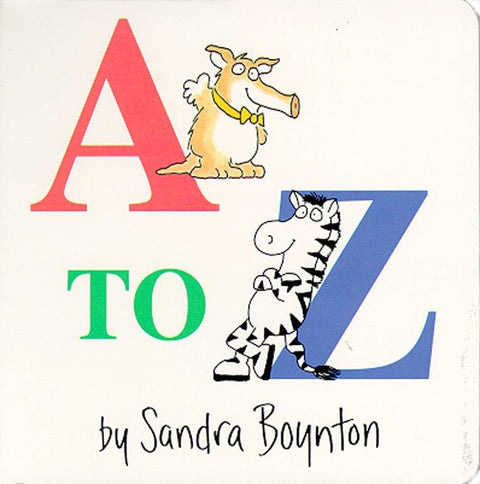 A to Z - Board Book by Sandra Boynton
