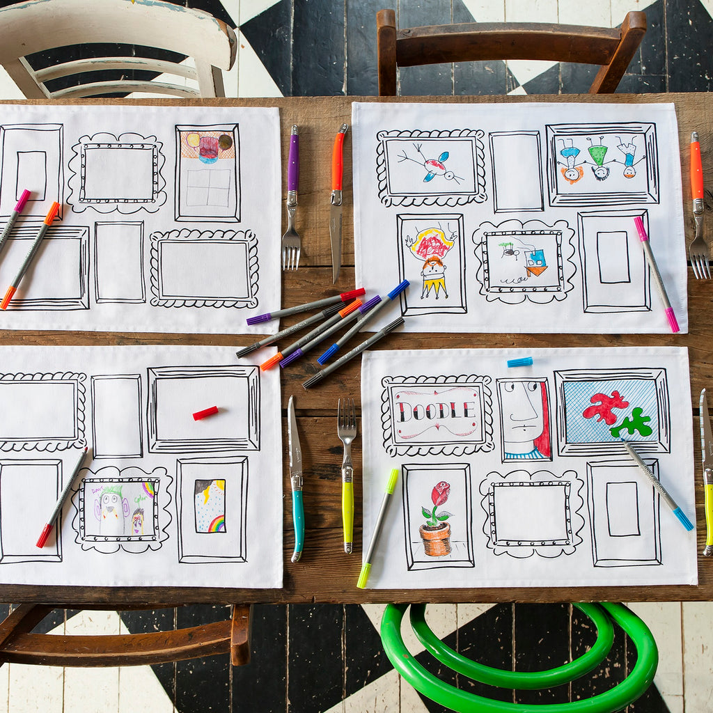 Doodle Frame Placemats - Set of 4
