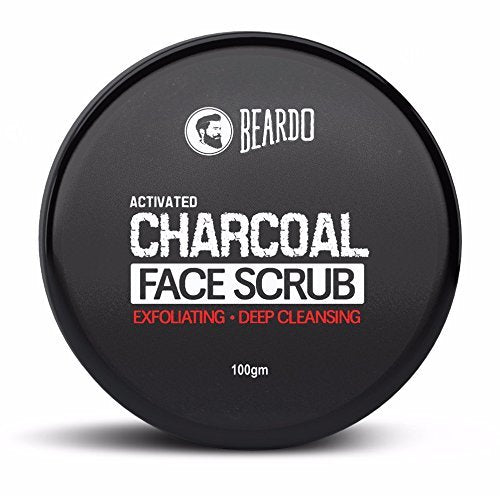 BEARDO Face Scrub - Buy Beardo Activated Charcoal Deep Cleansing Face Scrub 100GM Online in India.