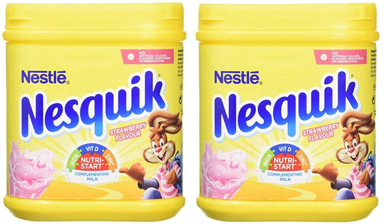 NESTLE Coffee - Buy Nestle Nesquik Strawberry Flavour Pack of 2 500GM Online in India.