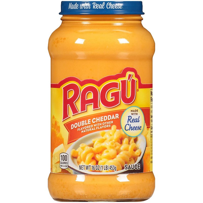 RAGU Sauce - Buy Ragu Cheesy Double Cheddar Sauce 453GM Online in India.