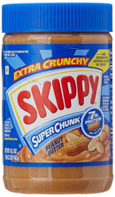 SKIPPY Peanut Butter - Buy Skippy Peanut Butter Extra Crunchy Super Chunk 462G Online in India.