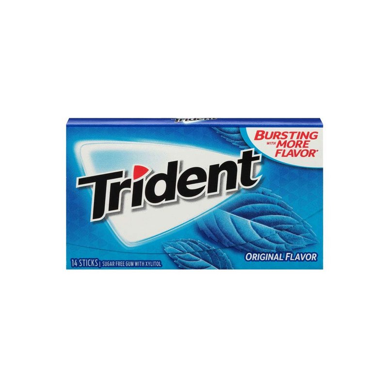 TRIDENT Chewing Gum - Buy Trident Sugar Free Chewing Gum Original Flavor 14 Sticks 26GM Online in India.