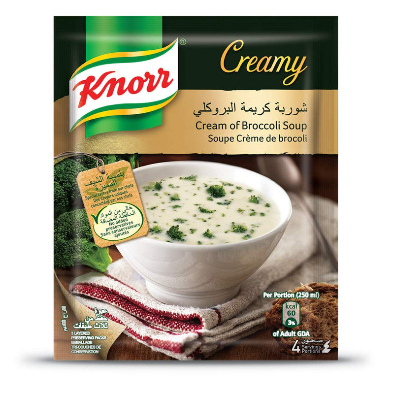 KNORR Soup - Buy Knorr Cream of Broccoli Soup 72GM Online in India.