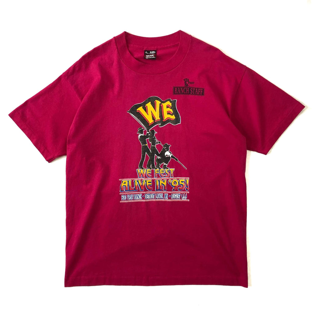 "90's FRUIT OF THE LOOM ""WE FEST ALIVE IN 95"" フェスTシャツ"