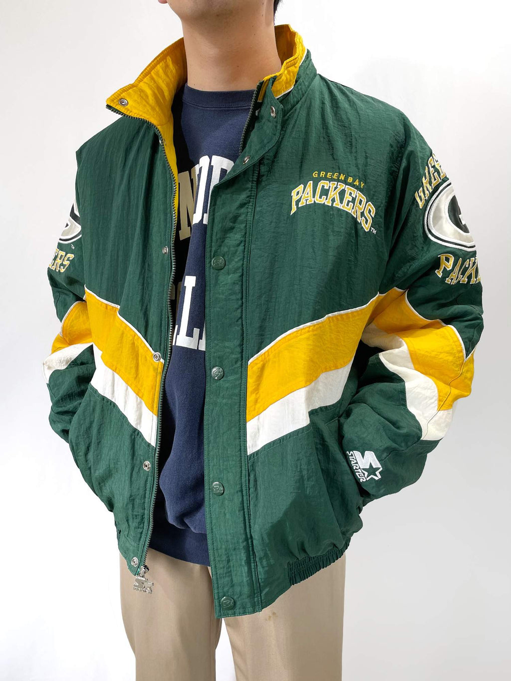 "STERTER NFL ""GREEN BAY PACKERS"" ナイロンジャケット"