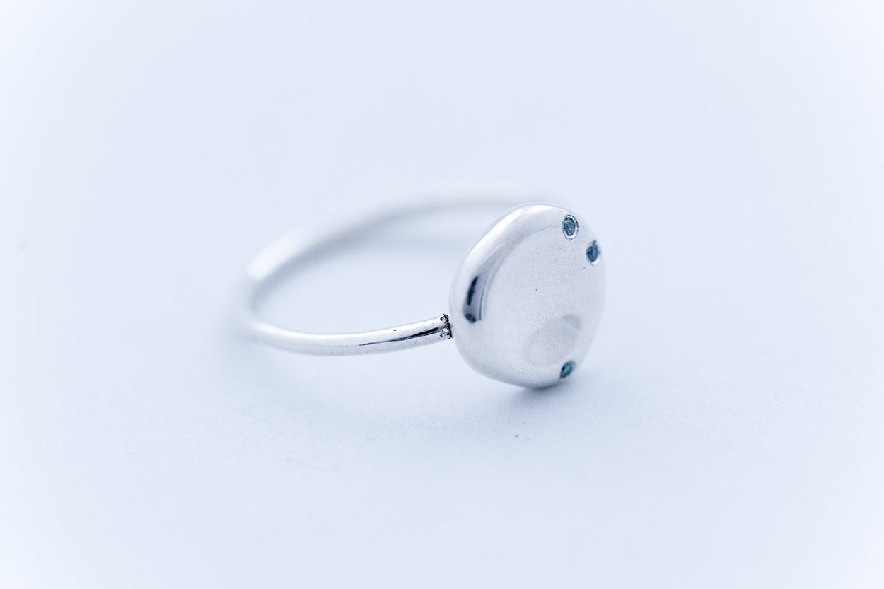 "PEBBLE ring ""L"" - Sterling Silver 