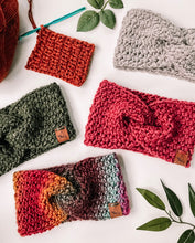 Load image into Gallery viewer, Crochet Pattern: Woven Headwarmer Pattern