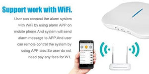 KERUI W1 Wireless WiFi  Home Smart Alarm System Security DIY Alert Kit iOS Android APP Remote Control