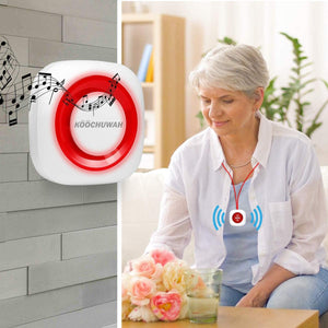 Wireless Caregiver Pager Personal Alarm Panic Button Emergency Call System