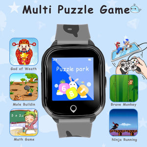Kids Smart Phone Watch, Waterproof GPS Tracker with App Remote Control