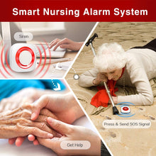 Load image into Gallery viewer, Wireless Caregiver Pager Personal Alarm Panic Button Emergency Call System