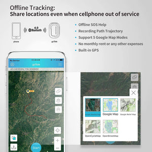 goTele GPS Tracker, Mini Portable Off-Grid Real Time GPS Tracking Device Tracker (2 Pack)