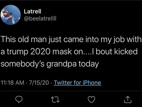 Trump 2020 mask assault an elderly person
