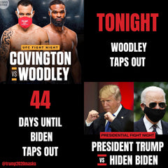 Colby Covington Trump 2020 Mask countdown MAGA