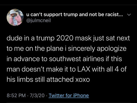 Trump 2020 mask reaction dismember you