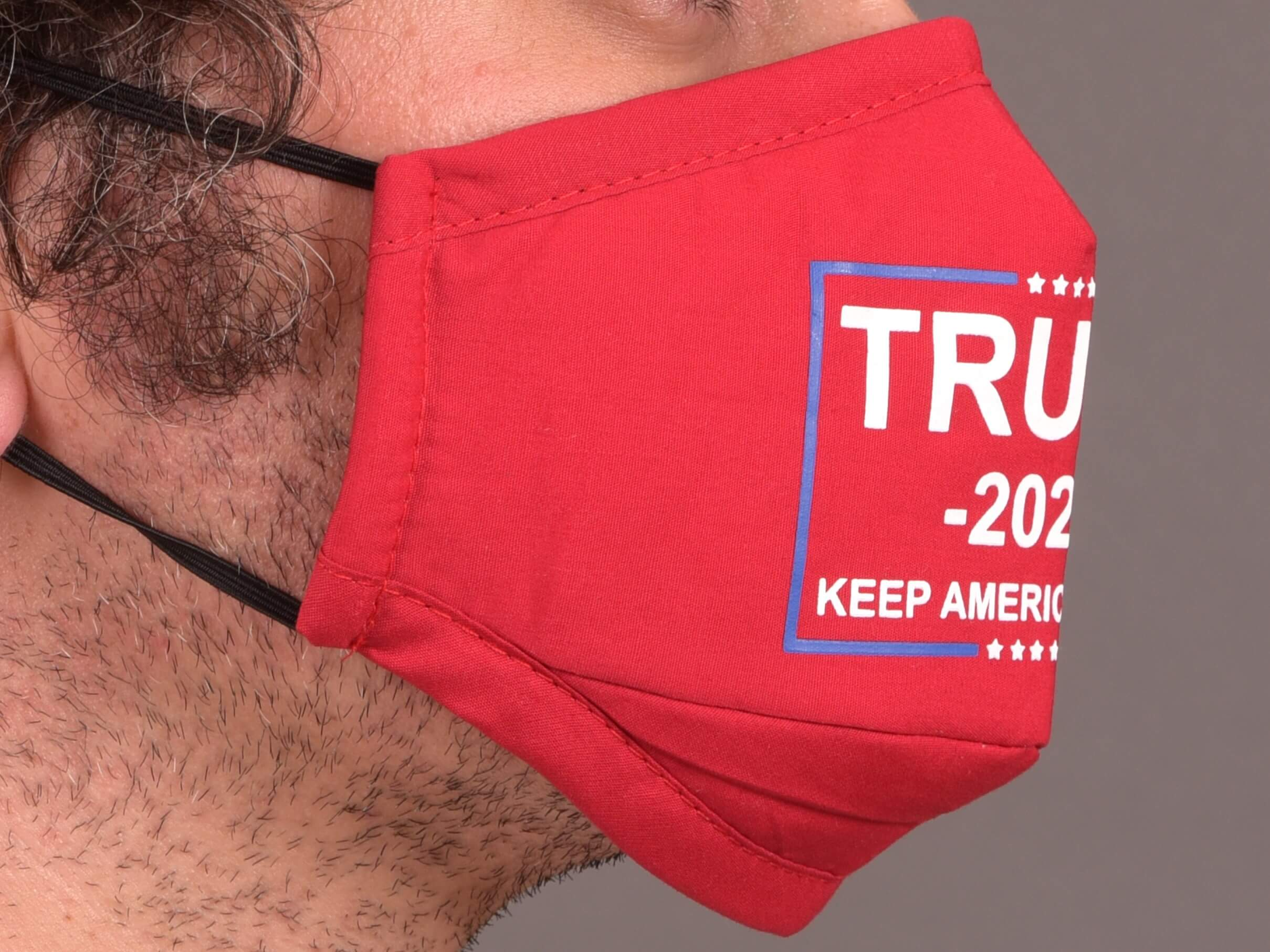 red Trump 2020 mask