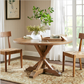 two wooden chairs and a table