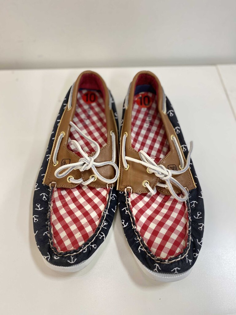 Sperry topsider gingham shoes 10