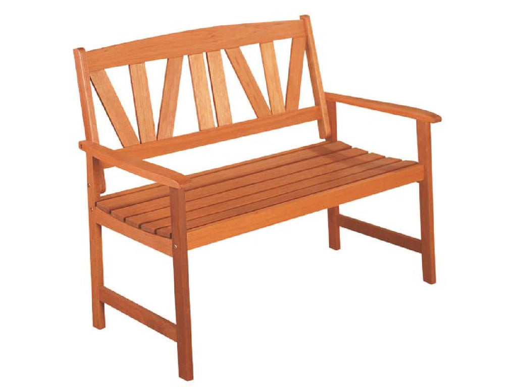 Newport Timber Bench: 2 Seater Garden Chair