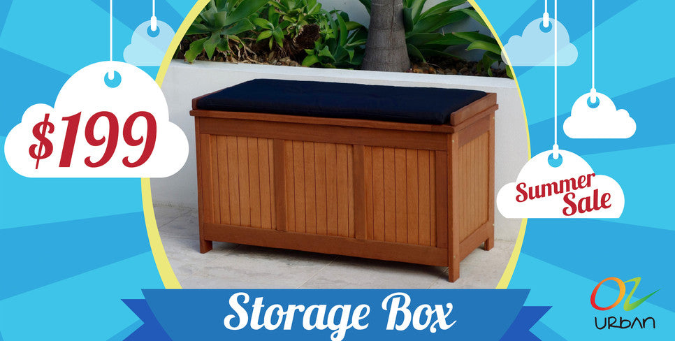 Outdoor Storage Box Wooden Chest Pillow Box Pool Storage