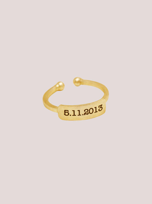 Gold Personalised Ring - Tipsyfly