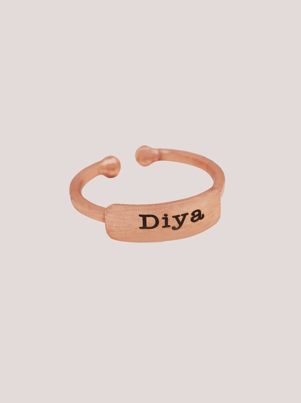 Rose Gold Personalised Ring - Tipsyfly